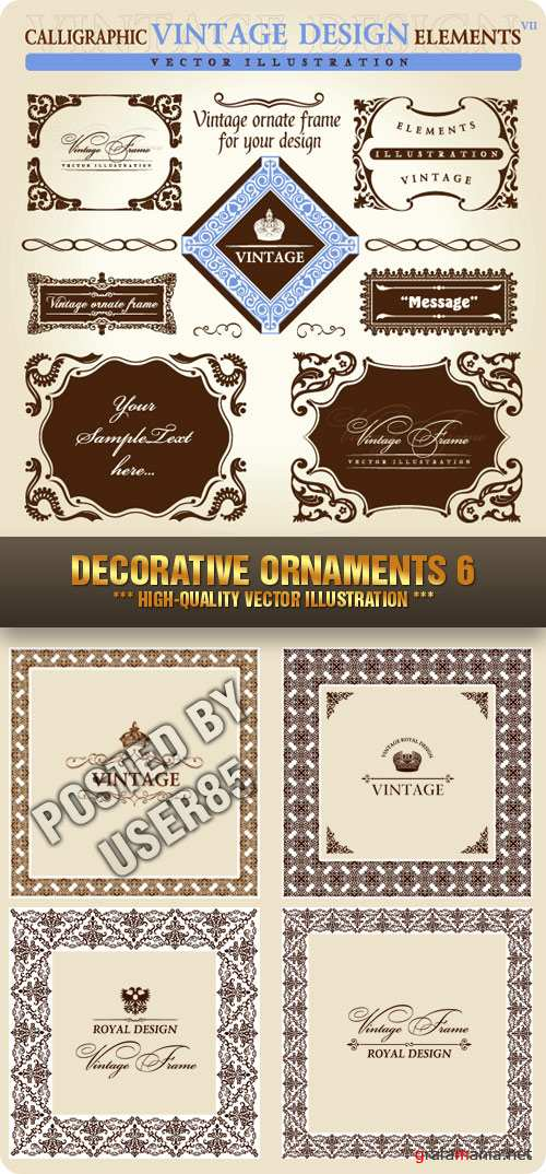 Stock Vector - Decorative Ornaments 6