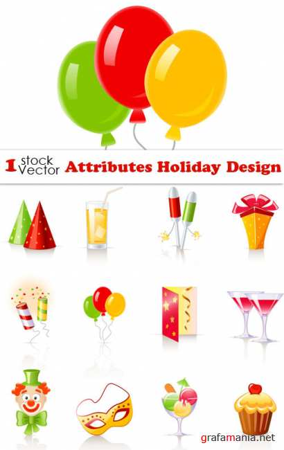 Attributes Holiday Design Vector