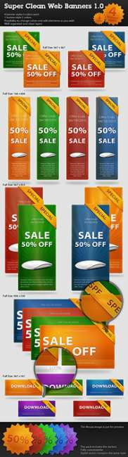 Super Clean Web Banners - GraphicRiver