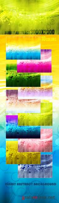 Bubbly Abstract Background Pack - GraphicRiver