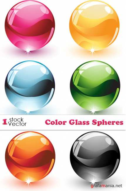 Color Glass Spheres Vector