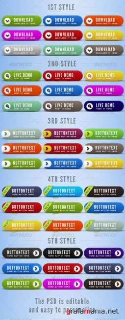 Elegant and Clean Web Buttons - GraphicRiver