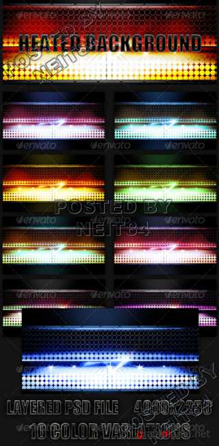 Graphicriver Light Flash Heated Background