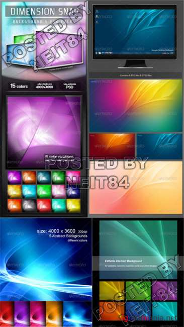 Graphicriver Ultra High Res Colorful Abstract Backgrounds