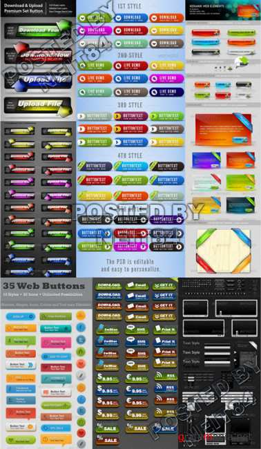 Graphicriver Professional Web Kit Elegant and Clean Web Buttons