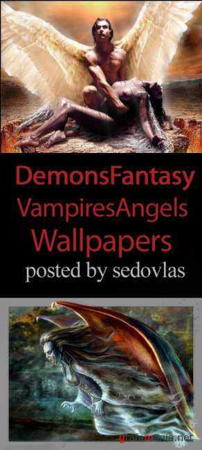 Vampires, Angels, Demons, Fantasy Wallpapers