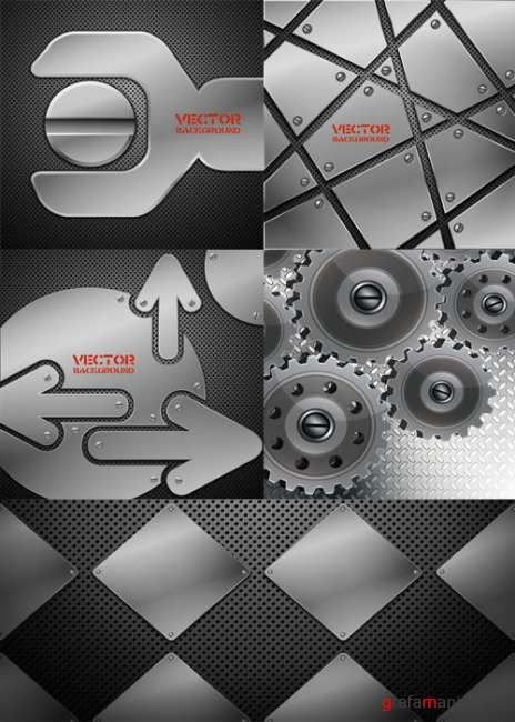 Metal industrial backgrounds