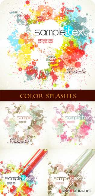 Paint splashes - Stock Vectors