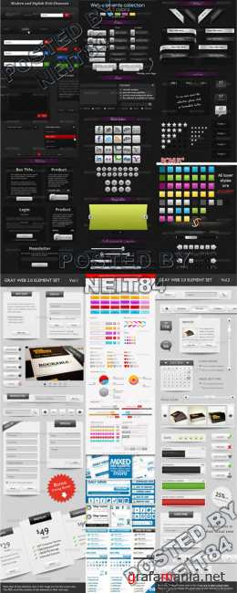 Graphicriver Modern and Stylish Web Elements 2.0 collection