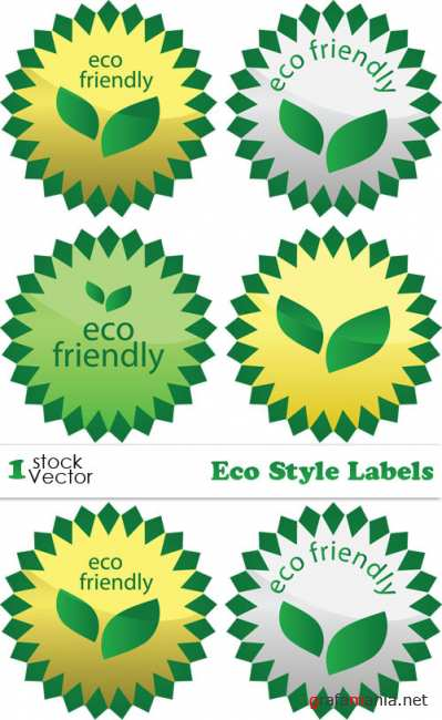 Eco Style Labels Vector