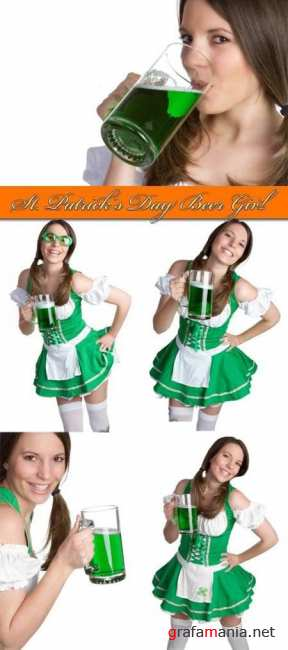 St. Patrick's Day Beer Girl
