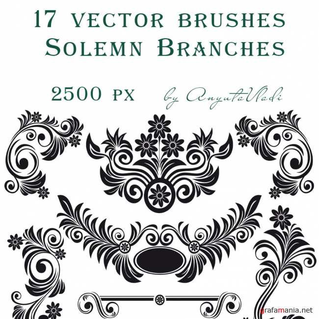 Solemn Branches vector brushes