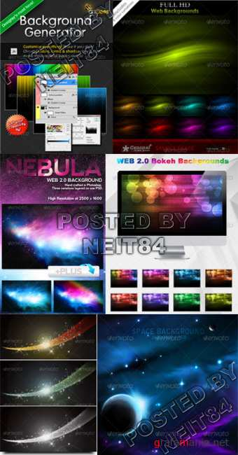Graphicriver Nebula Bokeh Creator Web 2.0 Background