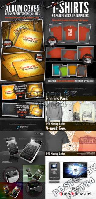 Graphicriver Ladies Neck Tees Hoodie Electronic Object Mock Ups