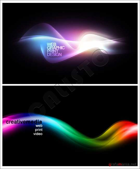 Abstract colorful waves Background - GraphicRiver