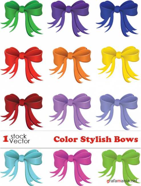 Color Stylish Bows Vector
