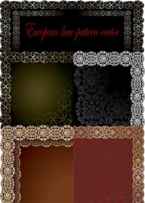 European-lace-pattern-vector