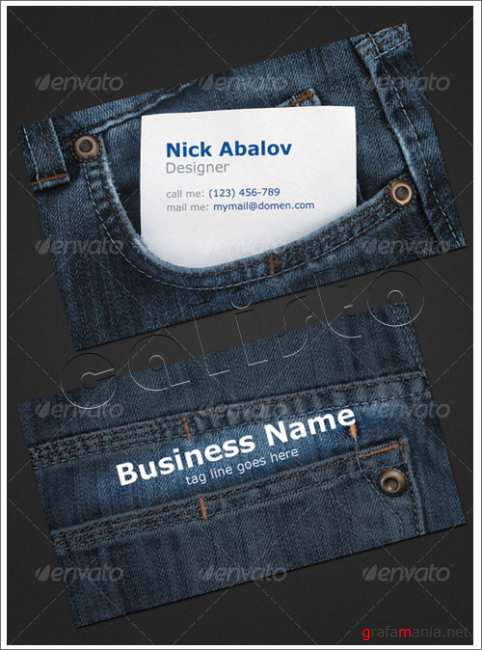 Jeans Business Card - GraphicRiver