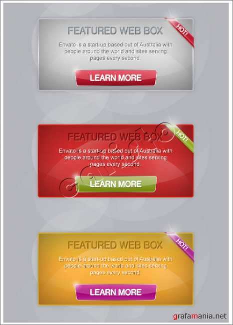 Web Components - Pack 3 in 1 - GraphicRiver