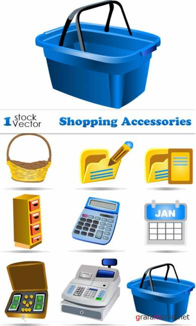 Shopping Accessories Vector