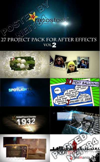 27 Tempalte After Effect Project Revostock V2