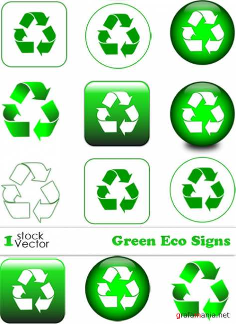 Green Eco Signs Vector