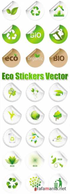 Stock Vector - Eco Stickers