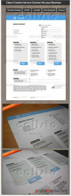 Clean Creative Service Contract for your Business - GraphicRiver