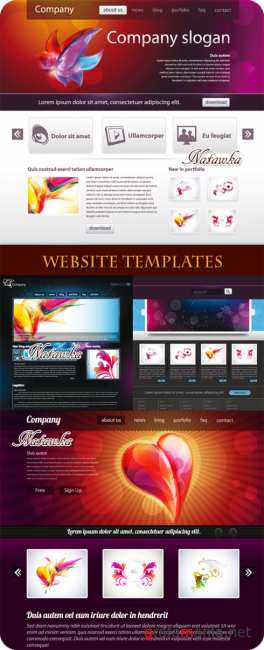 Website Templates - Stock Vectors