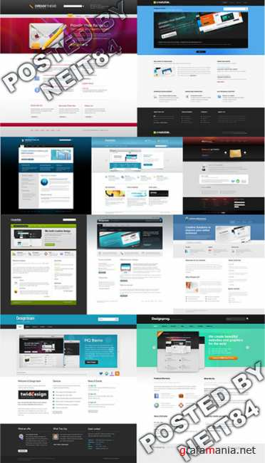 Templates Website Dynamic XHTML in April P13