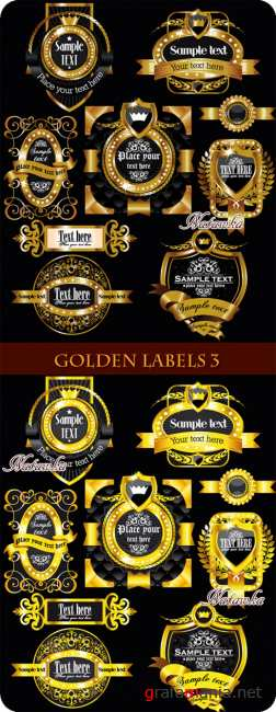 Golden labels - Stock Vectors 3