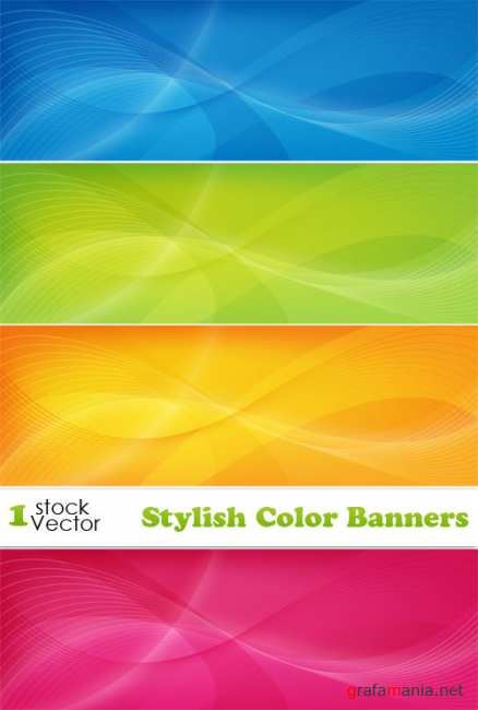 Stylish Color Banners Vector