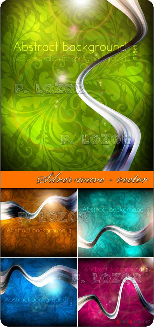 Silver wave - vector background