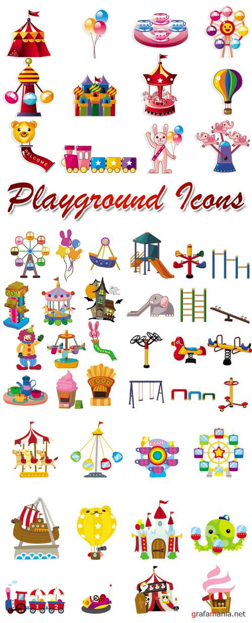 Playground Icons Vector