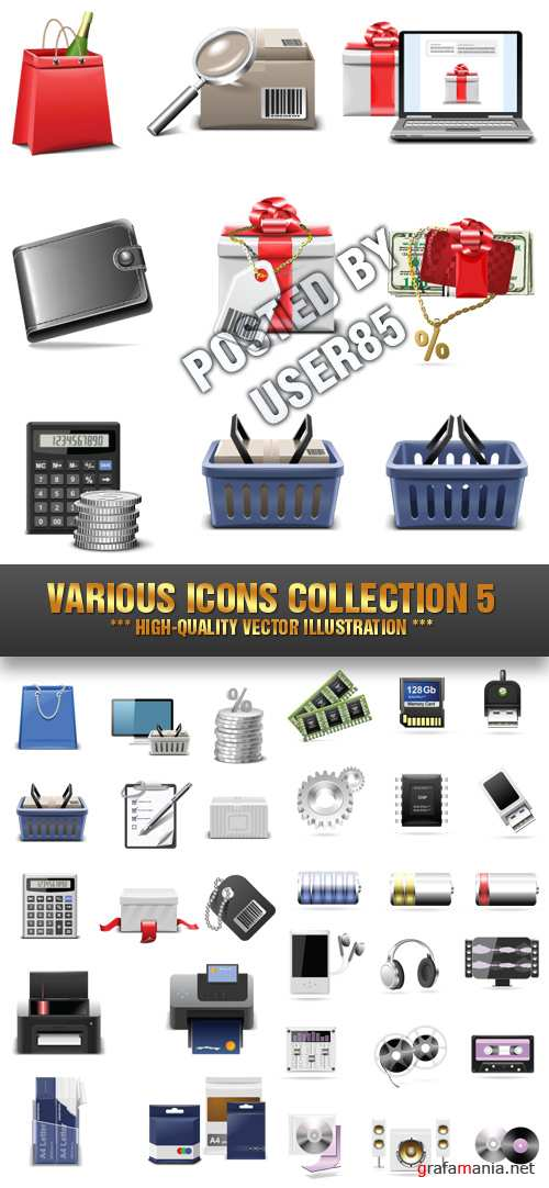 Stock Vector - Various Icons Collection 5