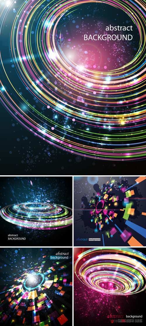 Abstract Perspective Circle Backgrounds