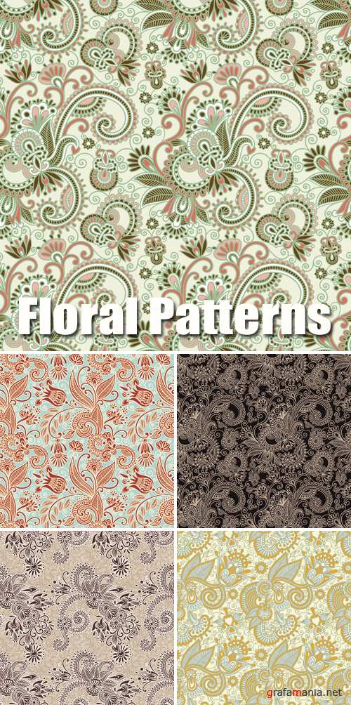 Floral Patterns Vector 2