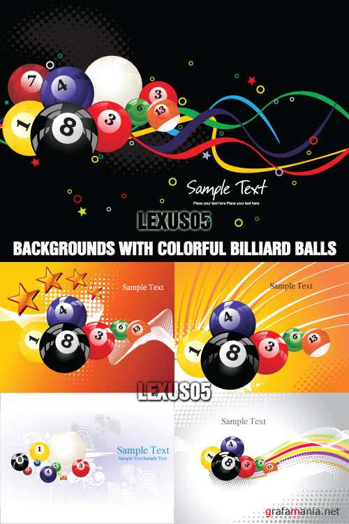 Vector Backgrounds with Colorful Billiard Balls
