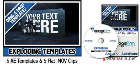 AE Footage Firm Exploding Templates