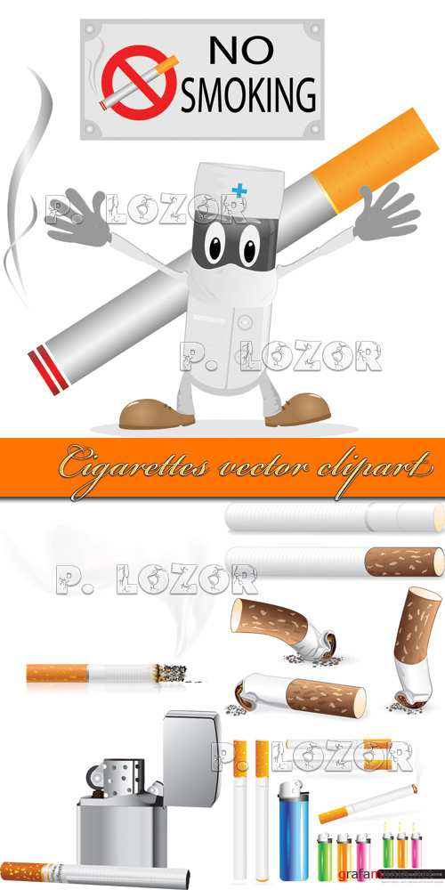 Cigarettes vector clipart