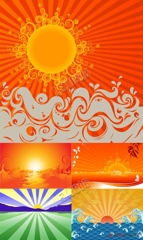 Sunrise and Sunset Vectors