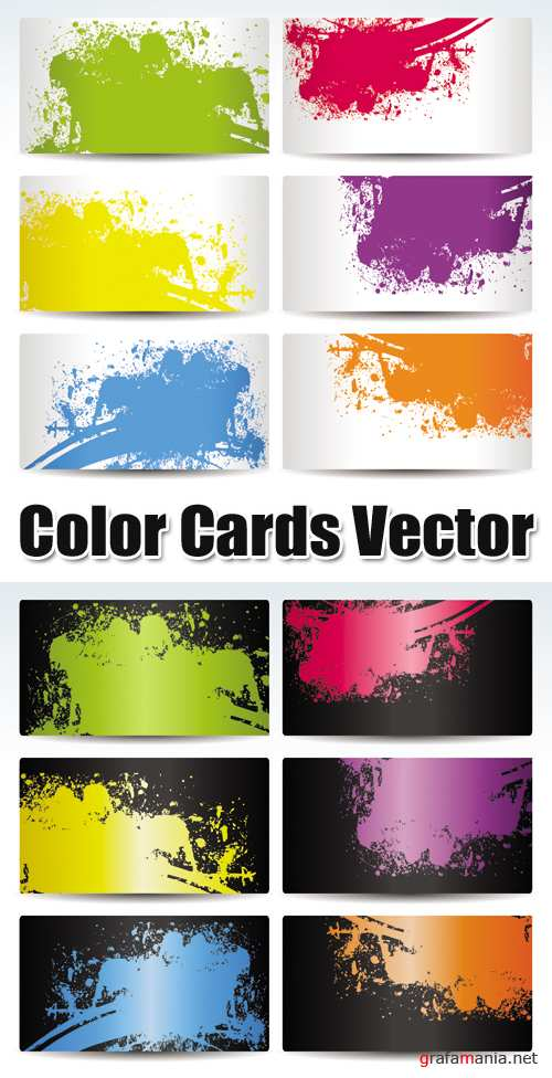 Color Cards Vector 2