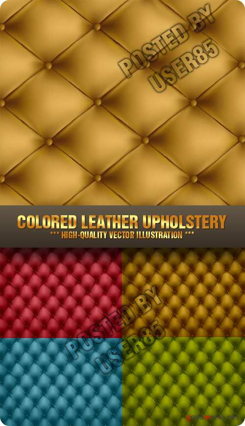 Stock Vector - Colored Leather Upholstery