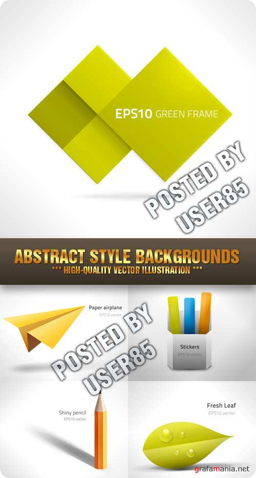 Stock Vector - Abstract Style Backgrounds