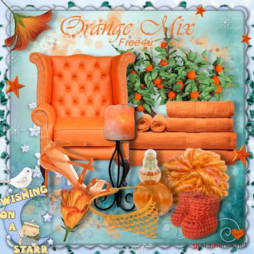 Mini scrap-set Orange Mix