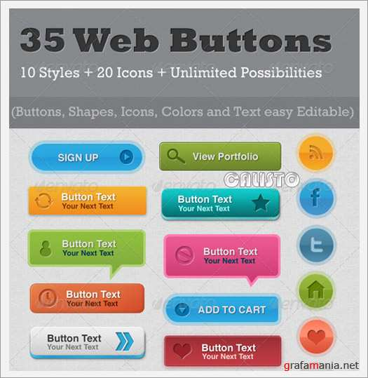 35 Resizable Web Buttons - GraphicRiver