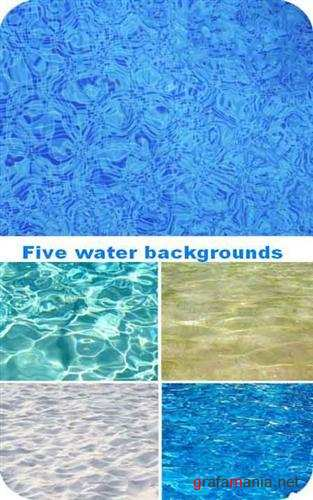 Five water backgrounds