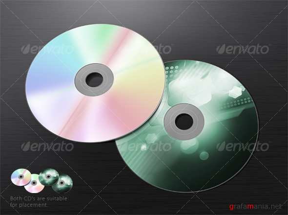 Dual CD Mock-Up - GraphicRiver