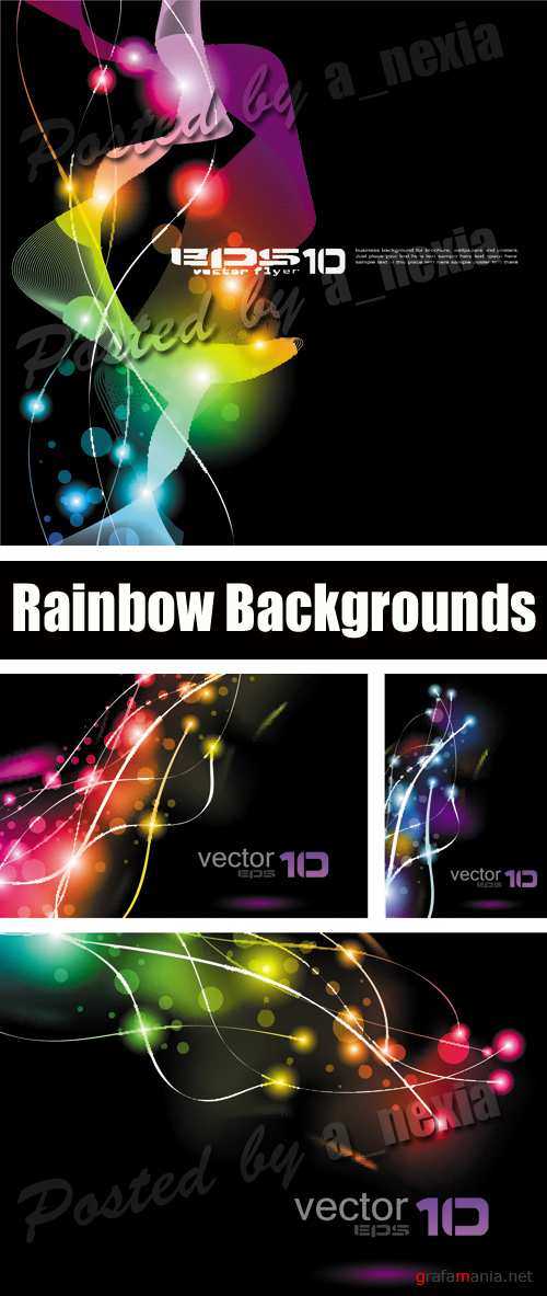 Rainbow Abstract Backgrounds Vector