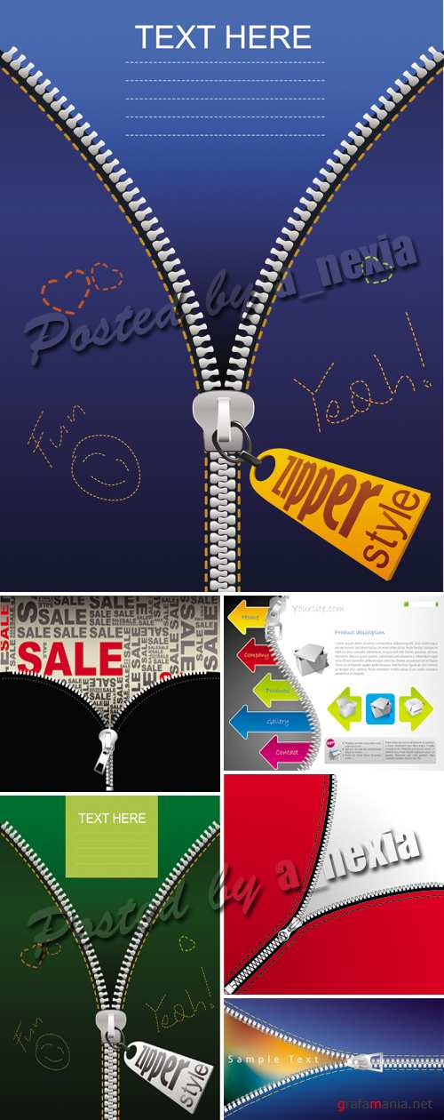 Zipper Backgrounds Vector